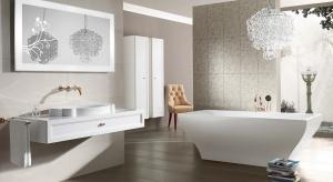 Romantyczna łazienka: piękna kolekcja w stylu glamour