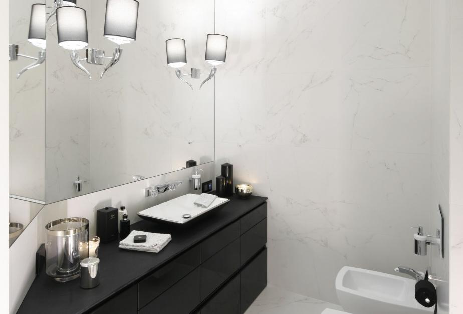 Inspirujemy łazienka W Stylu Glamour Eleganckie Dodatki W