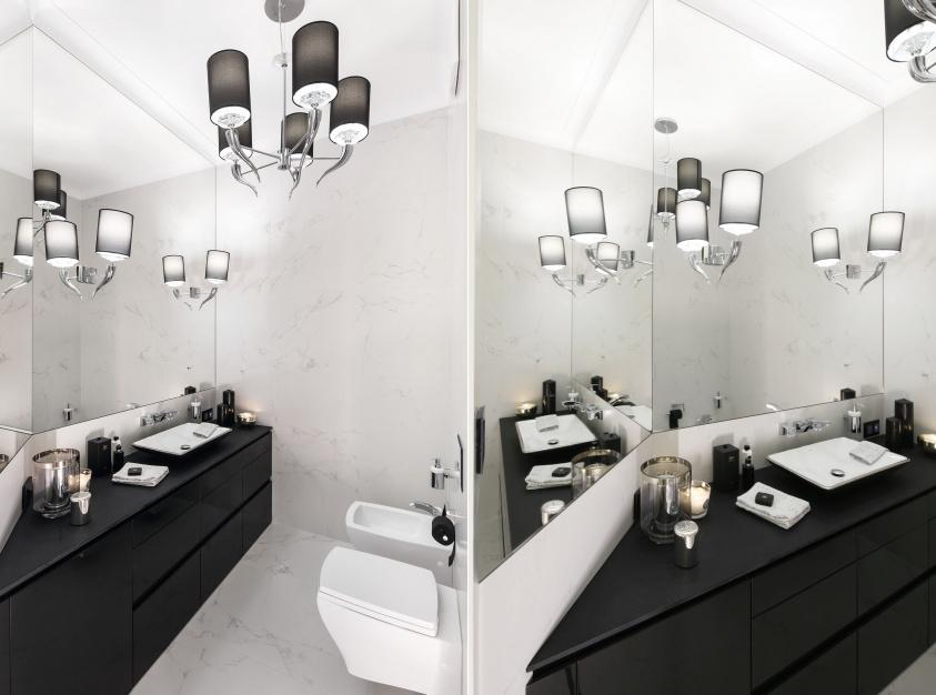 Inspirujemy Czarno Biała łazienka W Stylu Glamour Gotowy