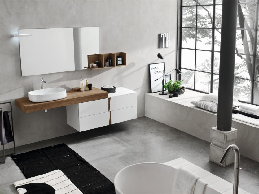 Meble łazienkowe: postaw na biel i kolory drewna