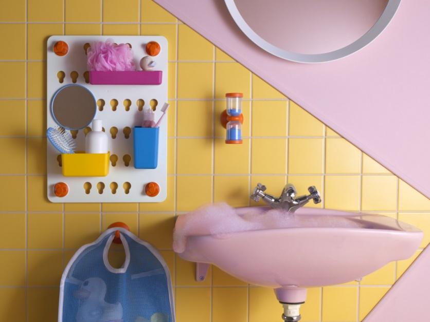 Łazienka dla dzieci: torba zamiast szafki