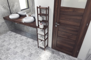 Podłoga w łazience: panele jak marokańskie płytki