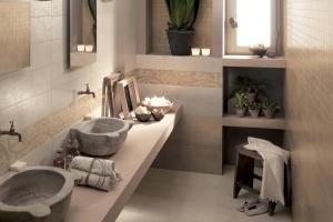 Beżowe płytki ceramiczne: 10 kolekcji do łazienek