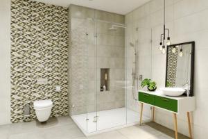 Geometryczne motywy w łazience: nowa kolekcja płytek ceramicznych