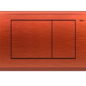 TECEplanus – przycisk spłukujący do WC w wersji antyczna miedź i mosiądz / TECE