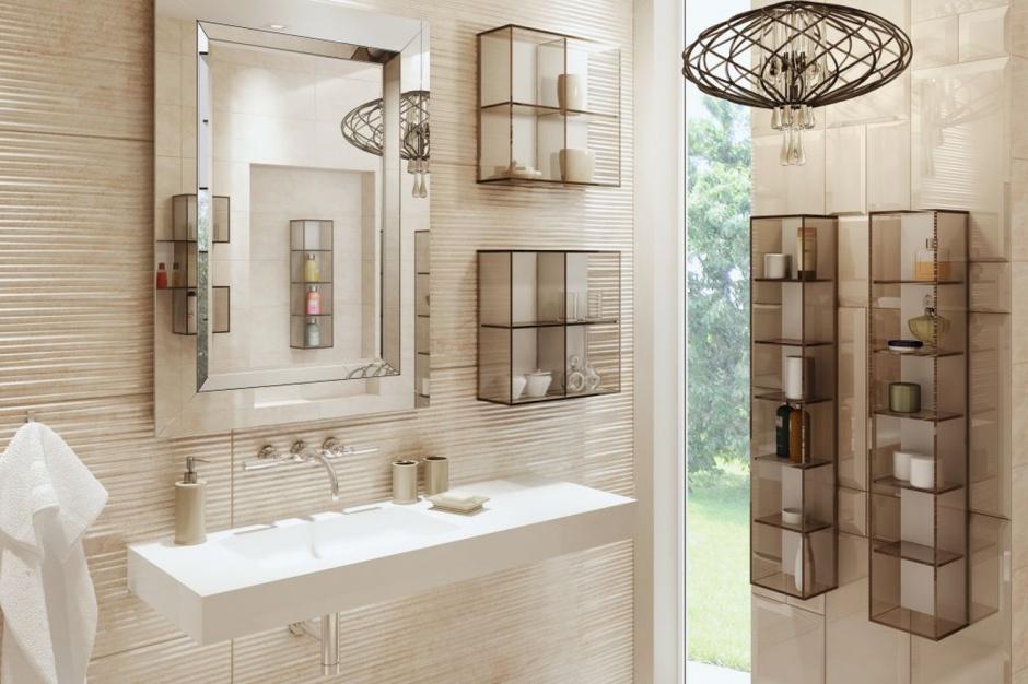 Otwarte półki: pomysł na przechowywanie w łazience