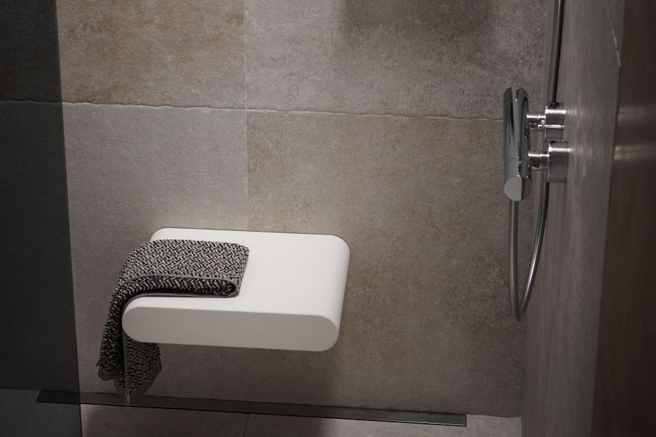 Funkcjonalna łazienka: praktyczne siedzisko pod prysznic