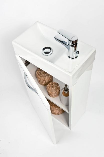 Aranżujemy Mała łazienka Praktyczny Zestaw Szafki Z