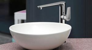 Strefa umywalki: wybierz wysoką baterię