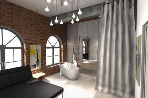 Industrialny styl w łazience - architekt tworzy z ofertą Azario