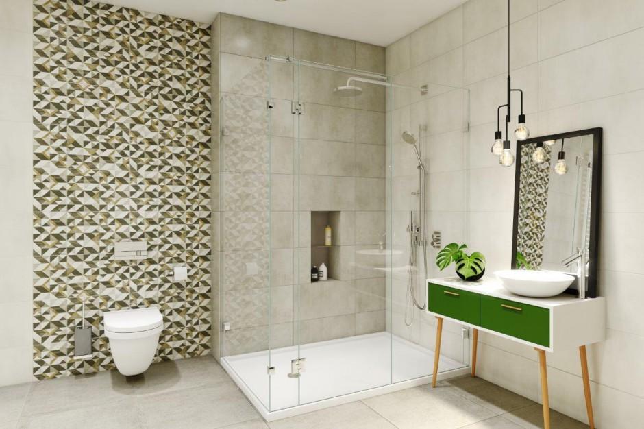 Geometria w łazience: kolekcja płytek ceramicznych