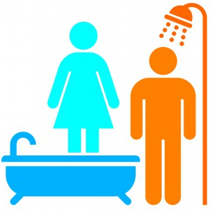 Kobiety wolą wannę, mężczyźni wybierają prysznic