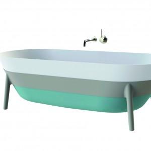 Design w łazience: trójkolorowa wanna