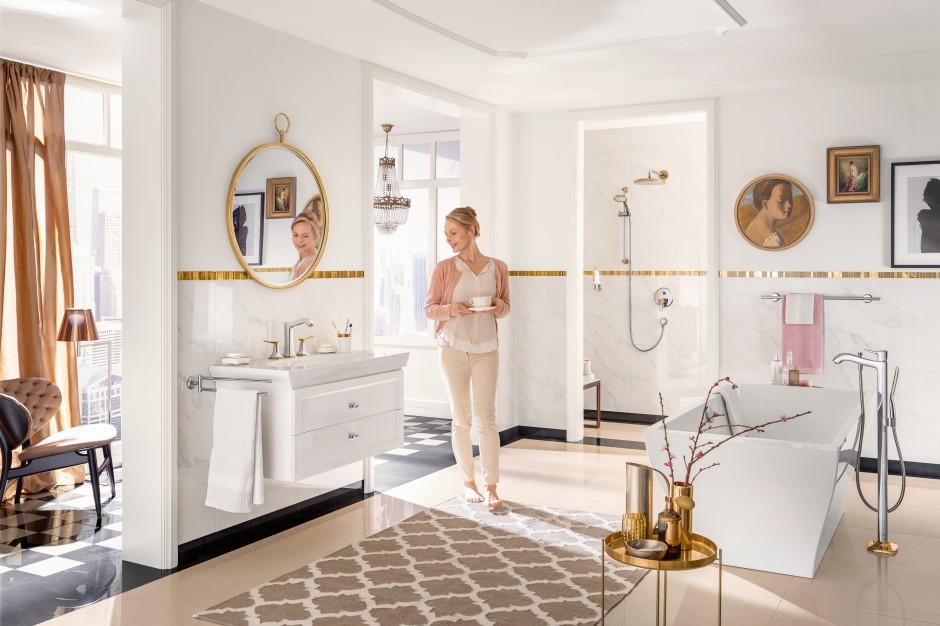 Luksusowy salon kąpielowy: nowa linia eleganckich baterii
