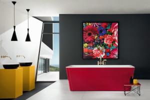 3 modele kolorowych wanien wolno stojących