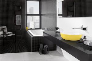 Kolory w łazience: postaw na czerń i żółć