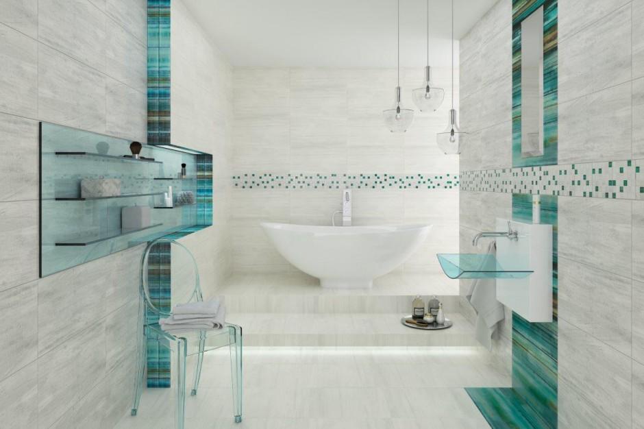 Łazienka w kolorach morza: obejrzyj filmik promujący piękne płytki