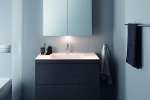 Szafka lustrzana zintegrowana z oświetleniem: seria produktów 3w1