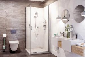 Prysznic w narożniku: 10 modeli kabin prysznicowych