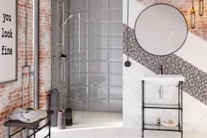 Szare płytki: 14 modnych kolekcji do łazienki