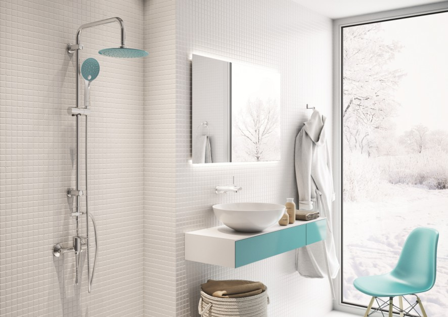 Strefa prysznica: poznaj zalety natynkowych baterii