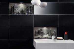 Płytki ceramiczne: czarno-białe dekory