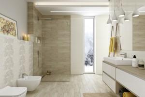 Beżowe płytki: kolekcje do przytulnej łazienki
