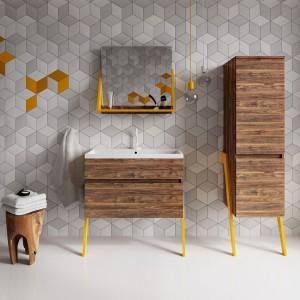Nowoczesne meble łazienkowe: kolekcje w kolorze drewna