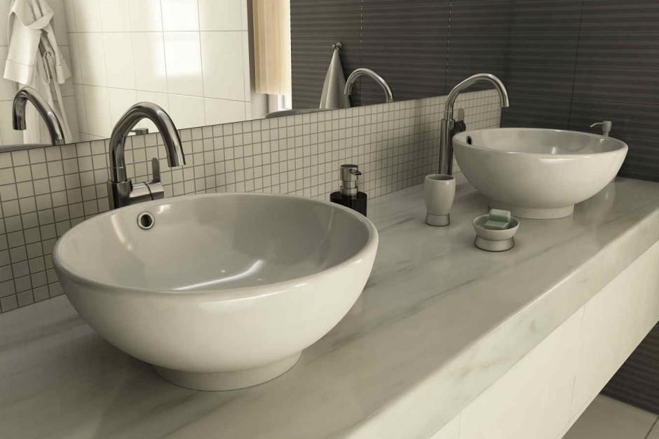 Geometria w łazience - umywalki o różnych kształtach