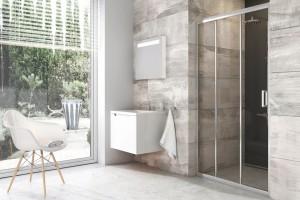 Strefa prysznica: różne rozwiązania z tej samej kolekcji