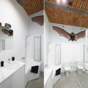 Cegła w łazience: 3 różne kolory