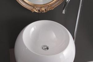 Umywalki stawiane na blat: modele o okrągłych kształtach