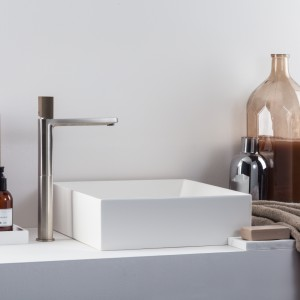 Kolor i beton w łazience (niezwykła serii baterii)