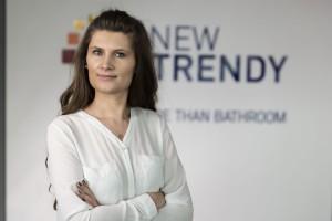Aleksandra Nowocień-Żukowska, New Trendy: Nasza sprzedaż kabin prysznicowych rośnie z roku na rok