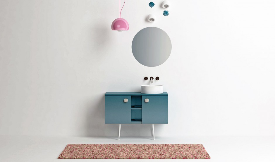 Design w łazience: konsola umywalkowa w stylu vintage