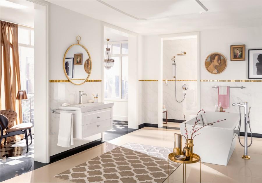 Łazienka w stylu klasycznym: wybieramy baterie