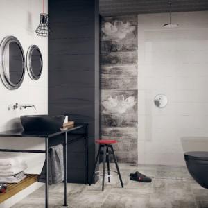 Czarno-biała łazienka: 12 kolekcji płytek ceramicznych