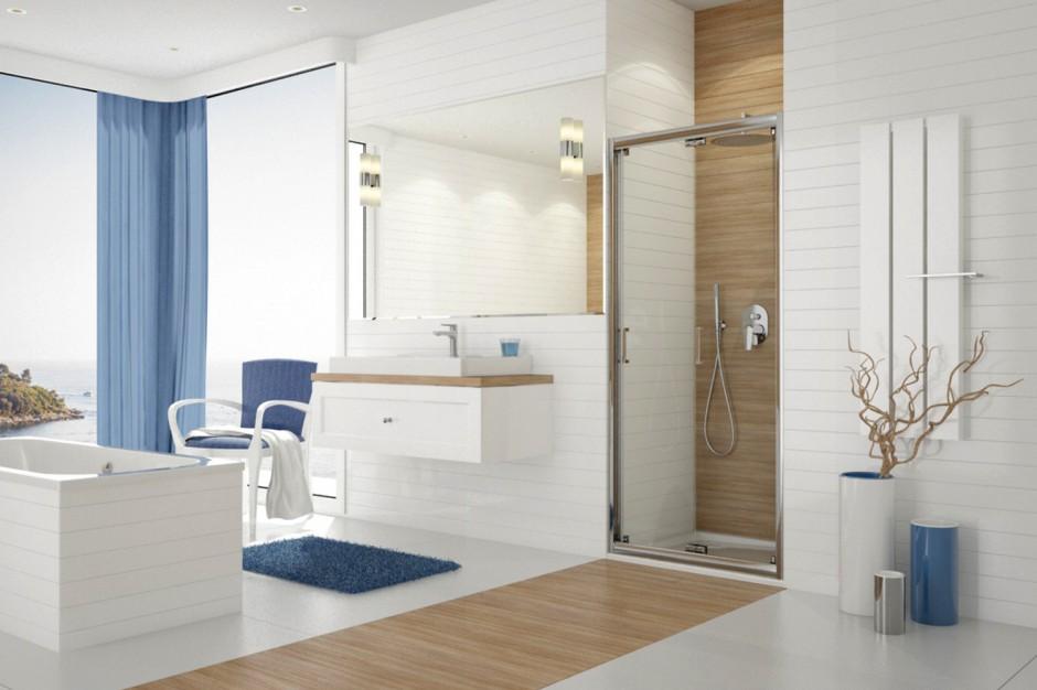 Prysznic we wnęce: 10 modeli drzwi wnękowych