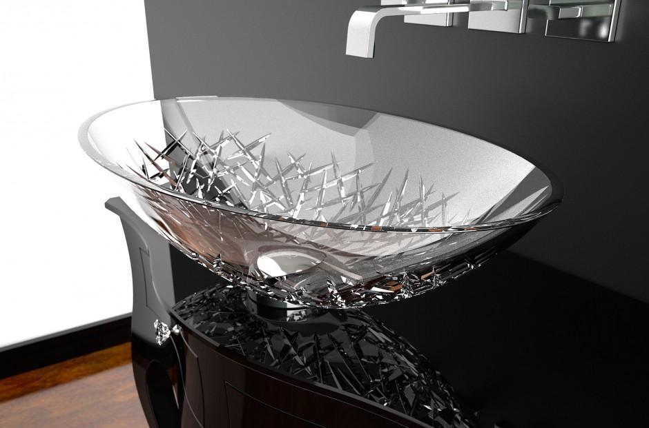 Elegancka strefa umywalki: wybierz szkło