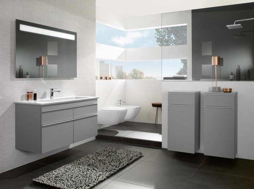 Aranżujemy Szara łazienka Zobacz Modne Meble łazienkowe