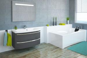 Szara łazienka: zobacz modne meble łazienkowe