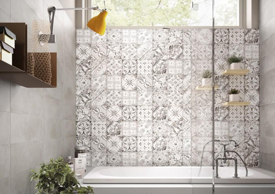 Jednolity patchwork: pomysł na elegancką łazienkę z fantazją