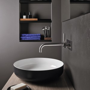 Modna strefa umywalki: dwukolorowe modele