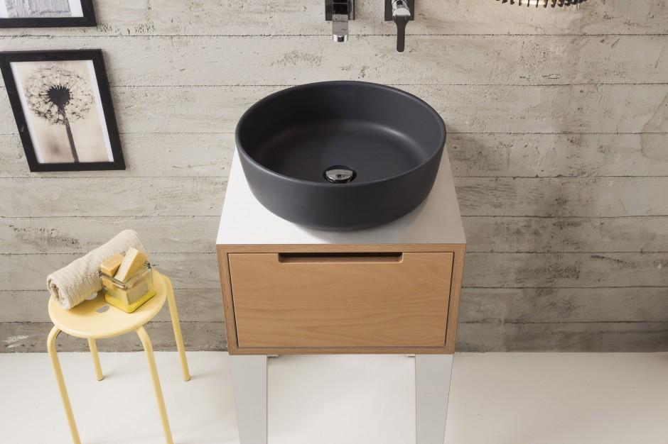 3 modele czarnych umywalek