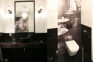 Ciemna łazienka: pakiet inspiracji