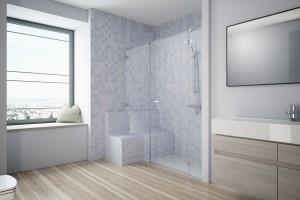 Łazienka bez barier: strefa prysznica dla osób starszych i niepełnosprawnych
