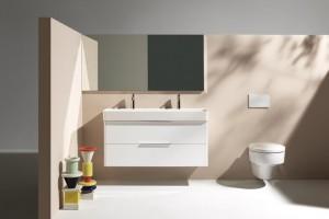 Mała łazienka: wąska, 42 cm umywalka