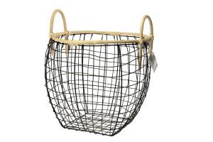 Przechowywanie w łazience: postaw na metalowe koszyki