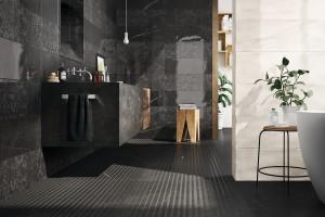 Płytki jak kamień: 10 kolekcji do łazienki