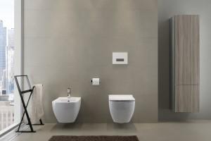 Nowoczesna łazienka: idealnie gładka ceramika sanitarna